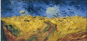 wheatfield and crows