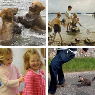 children and animals